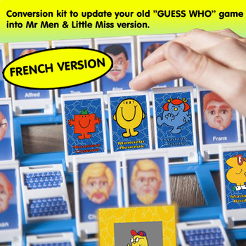 Guess Who Mr Men & Little Miss Conversion Kit (FRENCH VERSION)