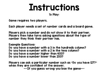 Guess Who Number Game