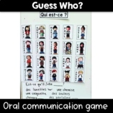 Guess Who? Oral Communication Game French and English