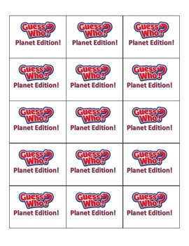 Guess Who? Planet Edition!