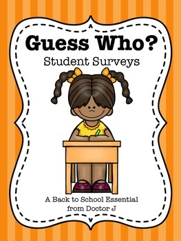 Guess Who? Student Surveys for Back to School