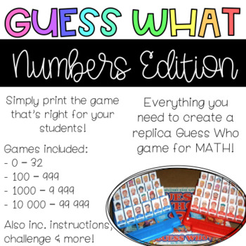 Guess Whowhat Numbers Edition Classic Board Games By Jordan Tamblyn