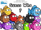 Guess Who (Zero Prep Lesson) Get to know your students_Name Card