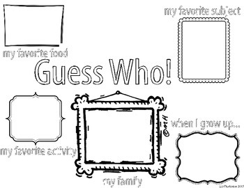 Guess Who (back to school night coloring template)