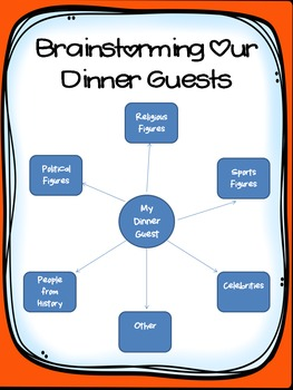Guess Who's Coming to Dinner? Writing Activity