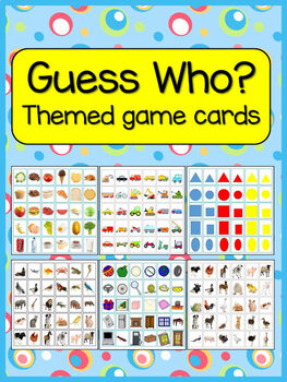 Guess Who game cards