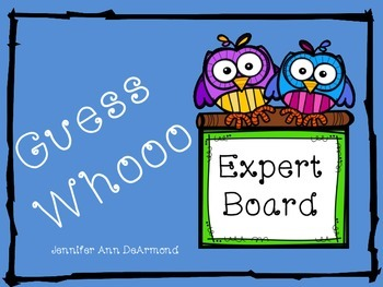 Guess Whoooo Expert Board