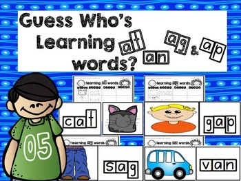 Guess Who's Learning Short A Words and Word Endings