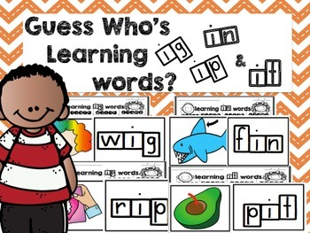 Guess Who's Learning Short I Words and Word Endings