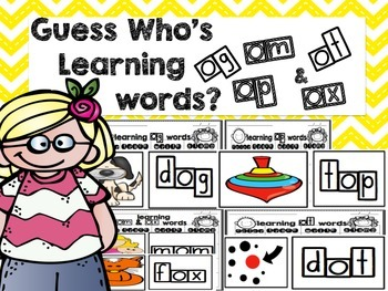 Guess Who's Learning Short O Words and Word Endings
