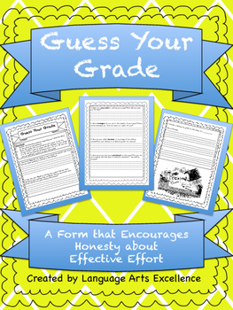 Guess Your Grade - Effective Effort Form