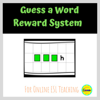 Guess a Word: Word Game or Reward System for Online ESL Teaching (VIPKID)
