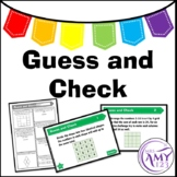 Guess and Check - Problem Solving PowerPoint, Task Cards and Worksheet