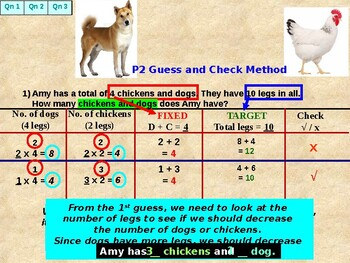 Guess and Check questions