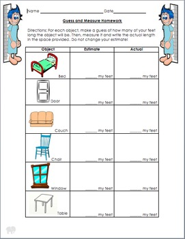 Guess and Measure Homework