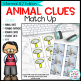 Animal Clues Match Up Mammals 2   Guess the Picture   Partner Cards