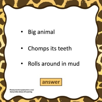 Guess the Animal PowerPoint Game