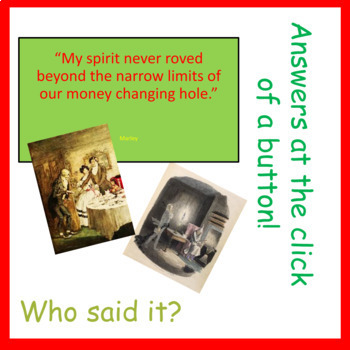 A Christmas Carol: Guess the Character by The Grammar Geek   TpT