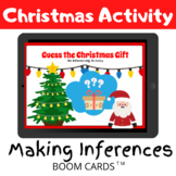Guess the Christmas Gift Inferencing Activity - BOOM CARDS Distance Learning