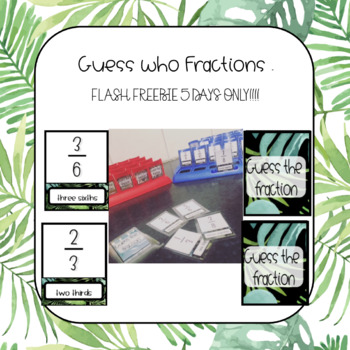 Guess the Fraction - Math version of Guess Who