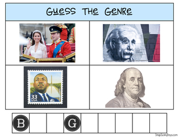 Guess the Genre - Four Pictures, One Word