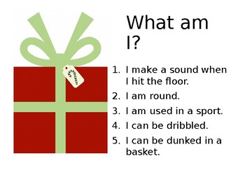 Guess the Gift! Inferencing Game for the Holidays!