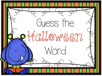 Guess the Halloween Word