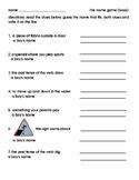 Guess the Homonyms/ Homophones Worksheet Game