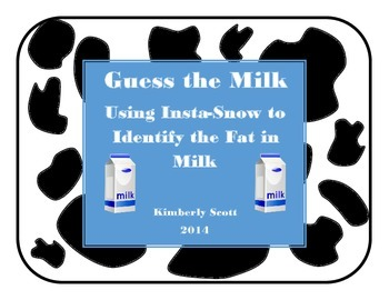 Guess the Milk:  Using Insta-Snow to Identify the Fat in Milk