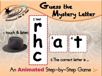 Guess the Mystery Letter - Animated Step-by-Step Literacy - Regular