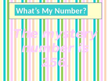 Guess the Mystery Number-A Mental Math Game Created by Martha Vogeler