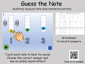Guess the Note - Solfege auditory discrimination activity