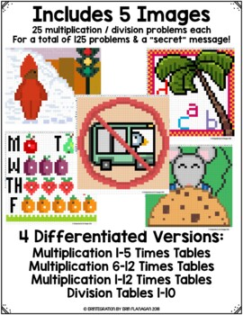 Guess the Picture Book Digital Pixel Art Magic Reveal MULTIPLICATION