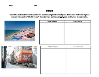 Guess the Place?- 5 Themes of Geography