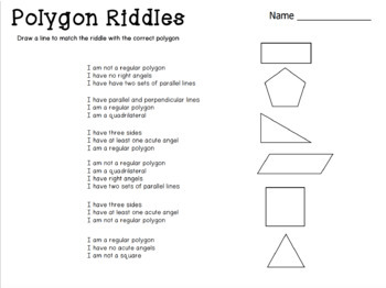Guess the Polygon: Powerpoint with worksheet