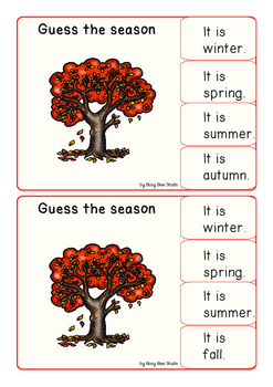 ESL Resources: Guess the Season