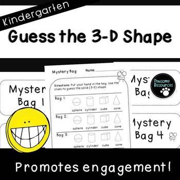 Guess the Shape (Kindergarten Geometry Game, K.G.3)
