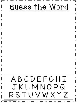 Guess the (SIPPS) Sight Words