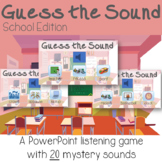 Guess the Sound Listening Game Activity School Sounds ESY Back to School Sped