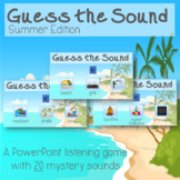 Guess the Sound Listening Game Activity Summer Sounds ESY Special Education