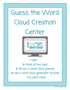 Guess the Word Cloud Centers