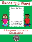 Guess the Word (Hangman) Activity Mat
