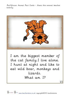 Guess the Zoo Animal