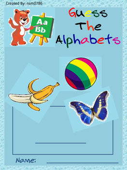 Guess the alphabet Activity 1