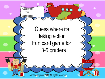Guess where its taking action for 3rd grade
