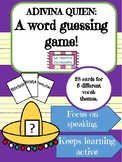 Guess who review game / Adivina quien for Spanish