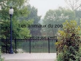 Guess who zoo animals in French