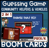 Guessing Game BOOM Cards! Community Helpers and Vehicles