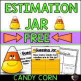 Guessing Jar for Candy Corn (FREE)