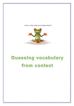 Guessing Vocabulary From Context